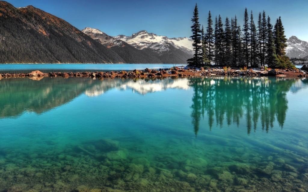 Горный пейзаж, озеро